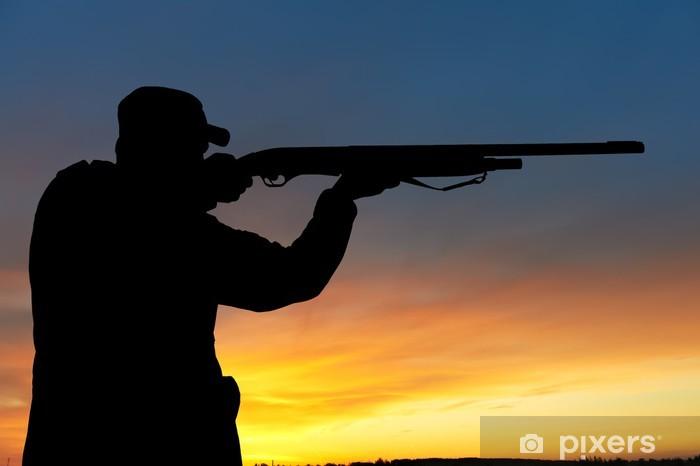 Sticker Pixerstick Chasseur avec canon de fusil - Thèmes