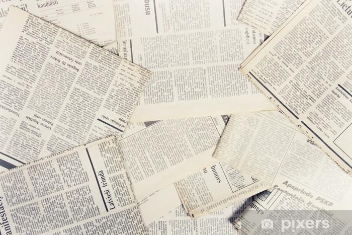 Naklejka Pixerstick Stare gazety - Style