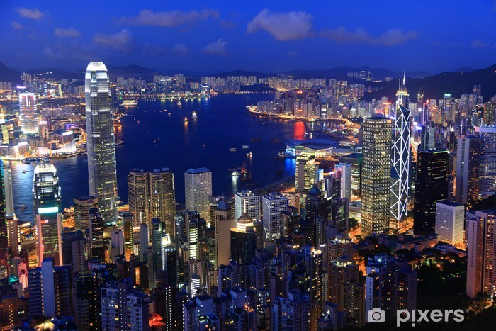 Fotomural Estándar Hong Kong al atardecer - Asia