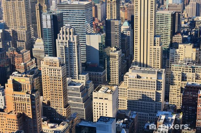 Aerial view of Manhattan Pixerstick Sticker - American Cities
