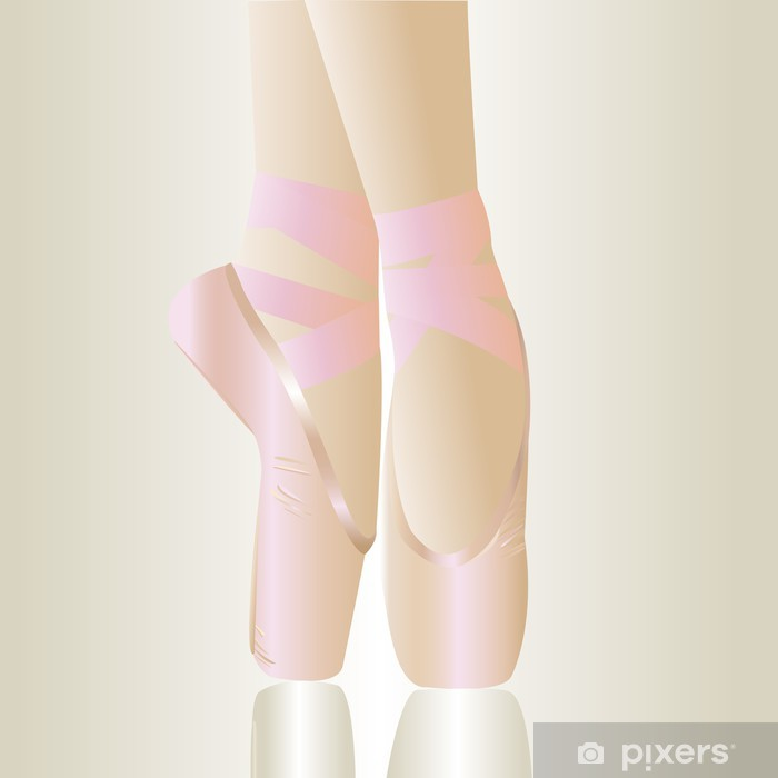 e10729b9e04 Vinylová fototapeta Růžová baletní boty - Vinylová fototapeta