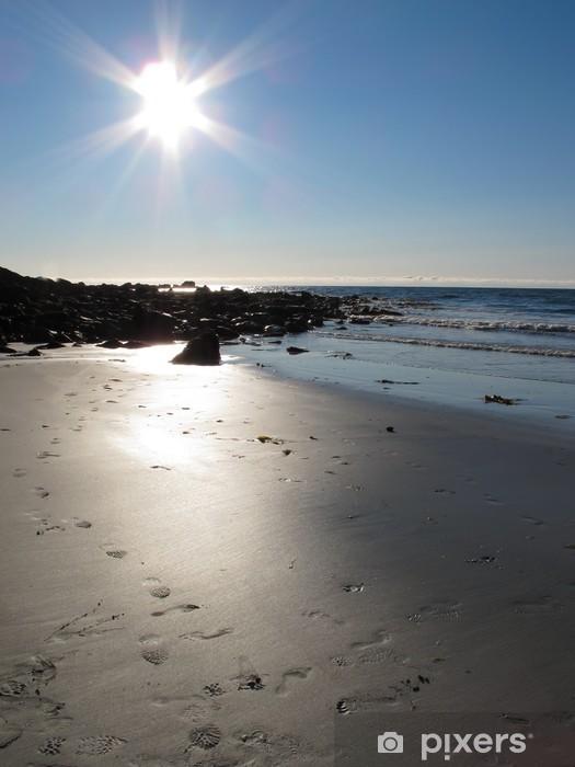 Papier peint vinyle Paysage pittoresque à la plage Norvège - Eau