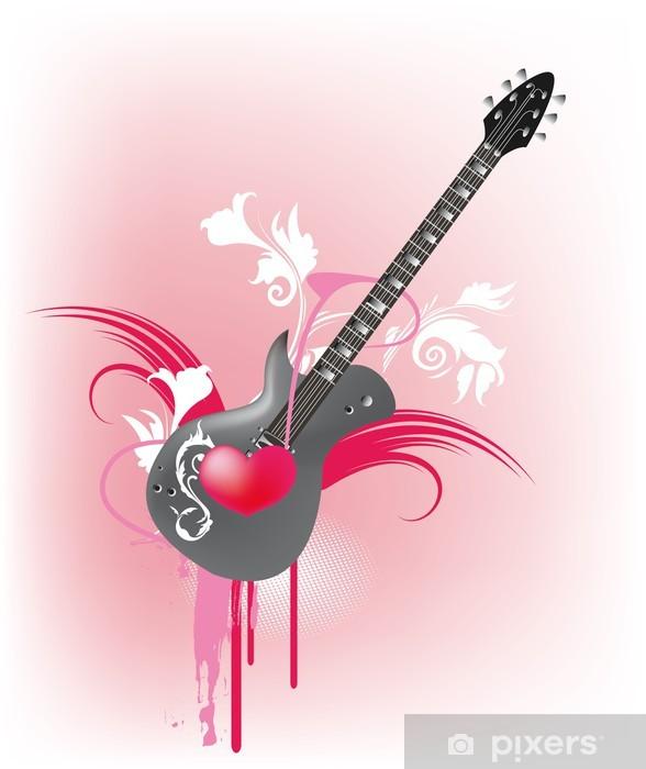 Wandfarben Fur Madchen 10: Gitarre Für Mädchen Sticker • Pixers® • We Live To Change