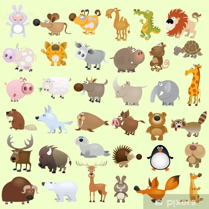 Fototapeta winylowa Big wektor cartoon zestaw zwierząt - Przeznaczenia