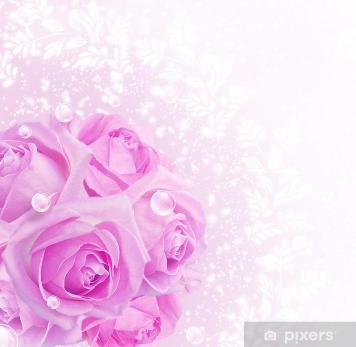 Naklejka Pixerstick Róże - Świętowanie