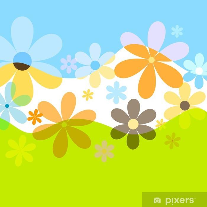 Papier peint vinyle Fleurs printanières - Saisons