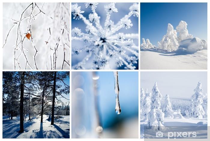 Papier peint vinyle D hiver - Saisons