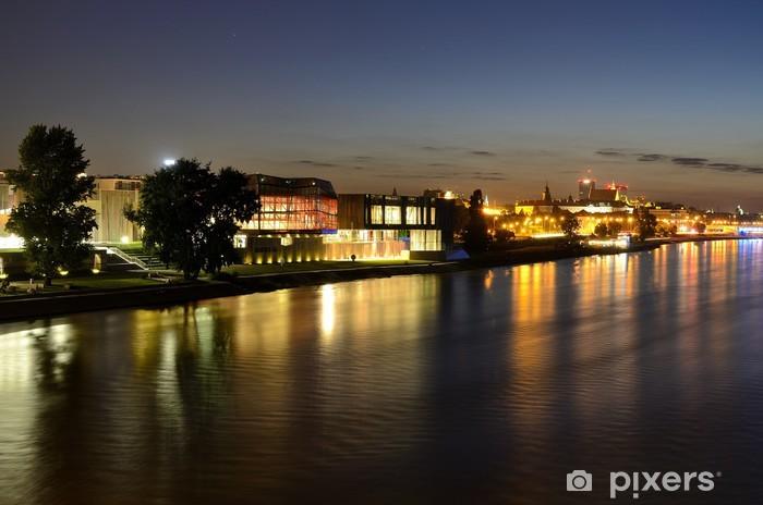 Naklejka Pixerstick Warszawa nocą - Tematy