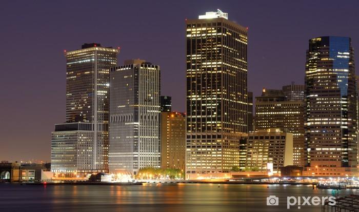 Naklejka Pixerstick Lower Manhattan Skyline - Tematy