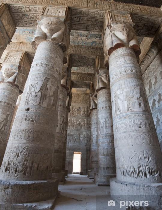 Papier peint vinyle Colonnes dans un ancien temple égyptien - Thèmes