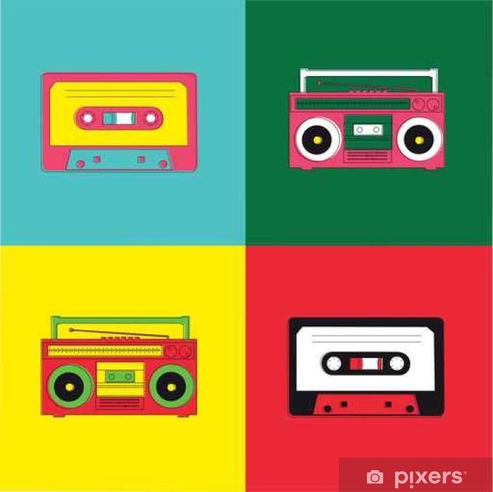 Pixerstick Dekor Popkonst Radio Cassette - Hio hop