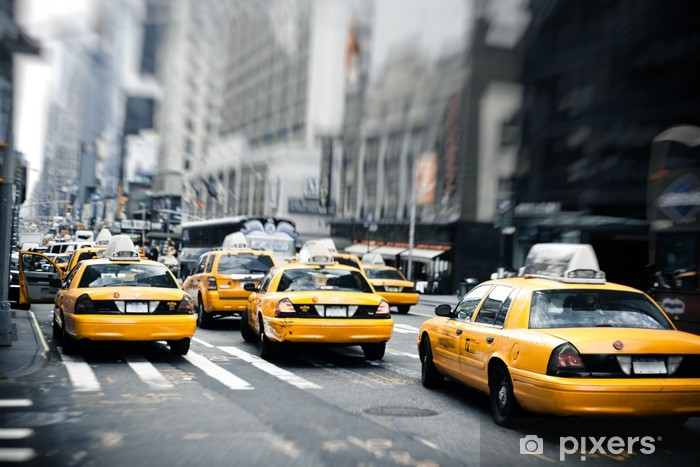 New York taxis Vinyl Wall Mural - Themes
