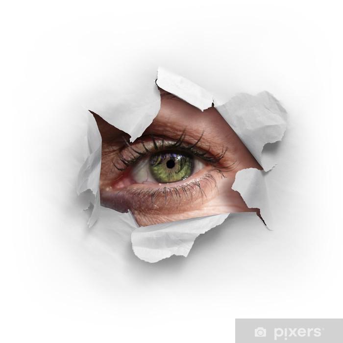 Peek Through a Hole Poster - Themes