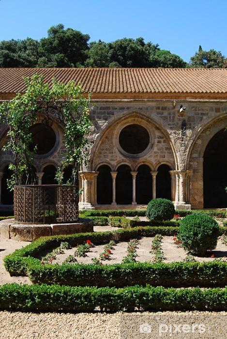 Naklejka Pixerstick Gardens, Opactwo Fontfroide - Budynki użyteczności publicznej
