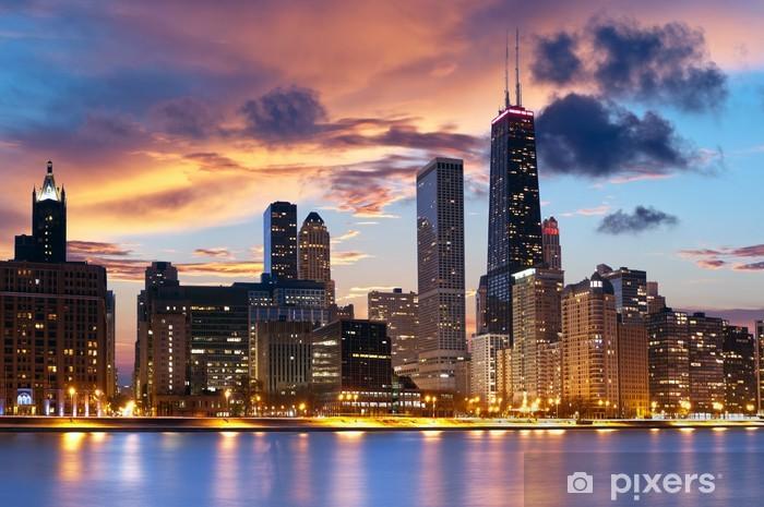Sticker Pixerstick Horizon de Chicago - Thèmes