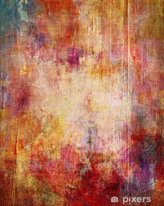 abgeblätterte farbschichten auf leinwandstruktur Vinyl Wall Mural -