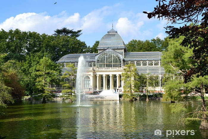 Fotomural Estándar Palacio de Cristal en el Parque de El Retiro, Madrid - Vacaciones