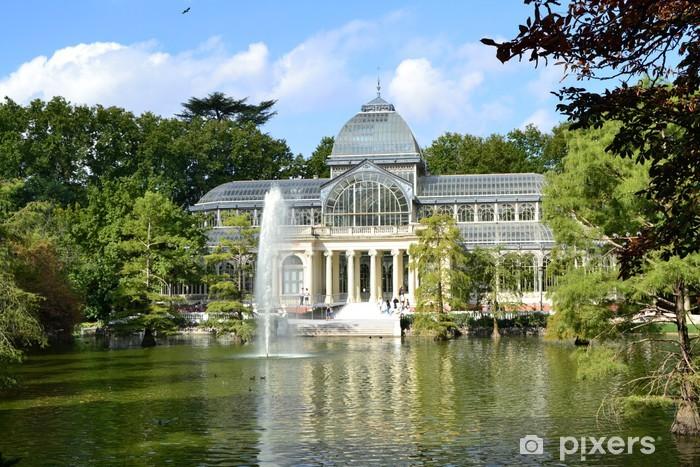 Palacio de Cristal en el Parque de El Retiro, Madrid Pixerstick Sticker - Holidays