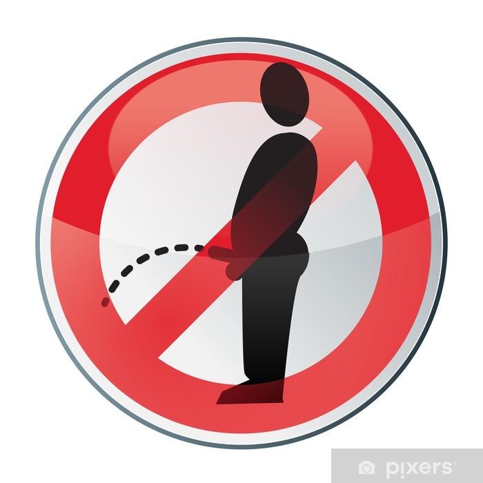 Fototapeta winylowa Zakaz oddawania moczu w publicznym głosem - Inne uczucia
