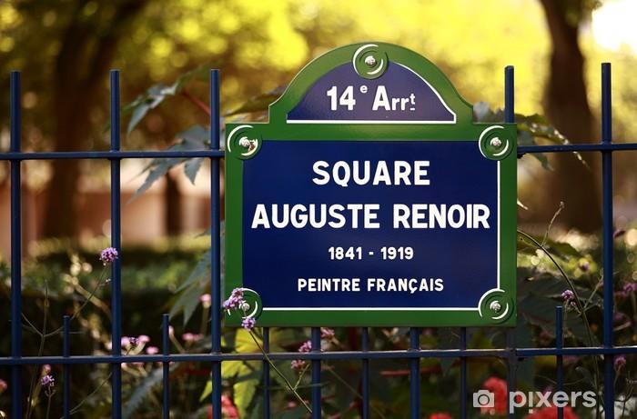 Square Auguste Renoir Vinyl Wall Mural - European Cities