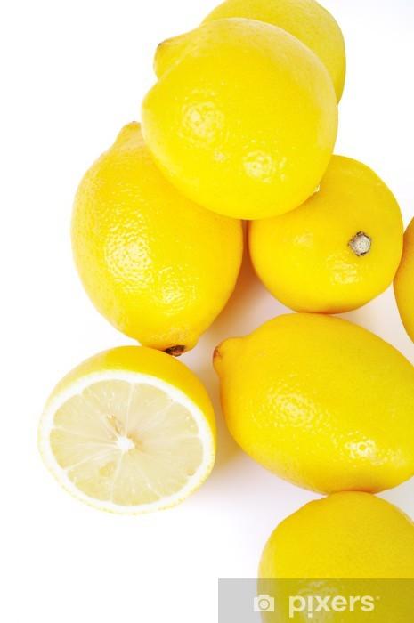 Papier peint vinyle Groupe de citrons isolé en blanc - Thèmes