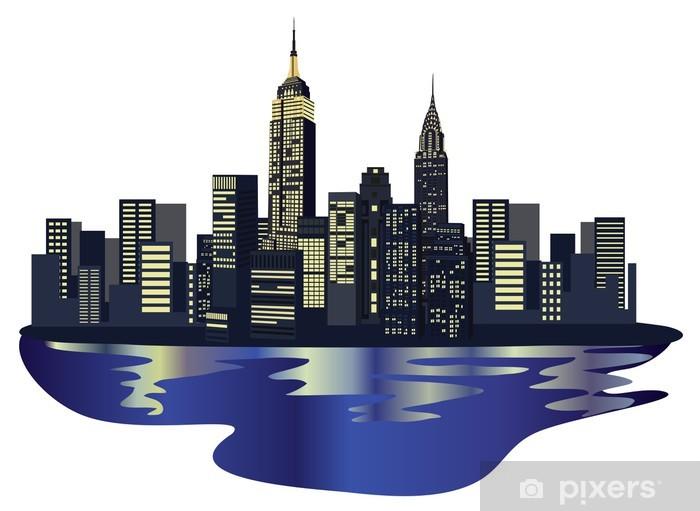 Vinyl Fotobehang New York Wolkenkrabbers -