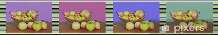 Naklejka Pixerstick Kolaż zdjęć z jabłek - Posiłki