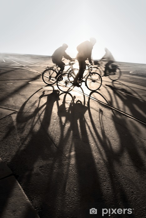 Papier peint vinyle Cyclistes - Sur la route