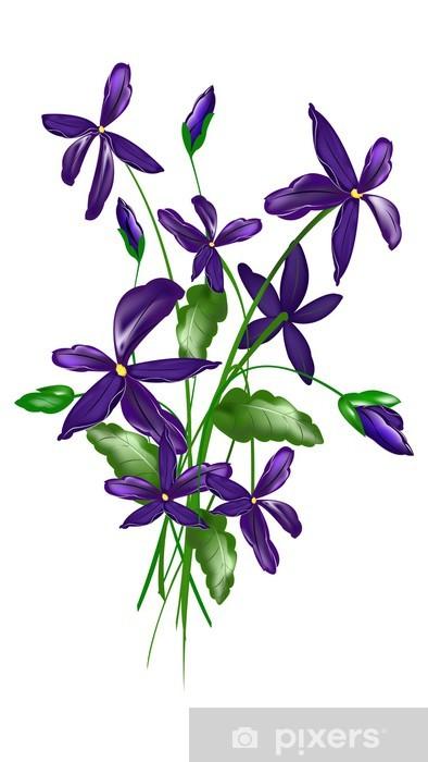 bd197328516825 Fototapeta Delikatne kwiaty ozdobne. • Pixers® • Żyjemy by zmieniać