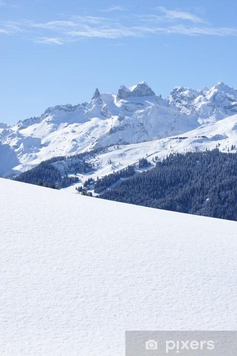 Pixerstick Aufkleber Winter in den Bergen - Europa