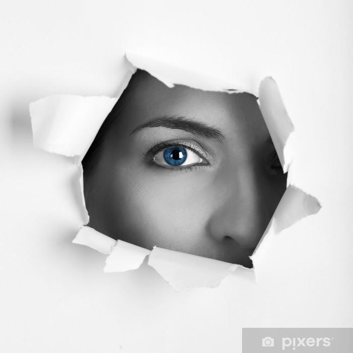 Papier peint vinyle Yeux bleus - Thèmes
