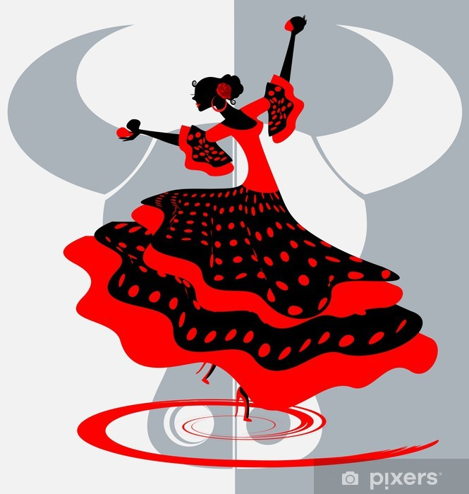 Naklejka Pixerstick Hiszpański tancerz - Tematy