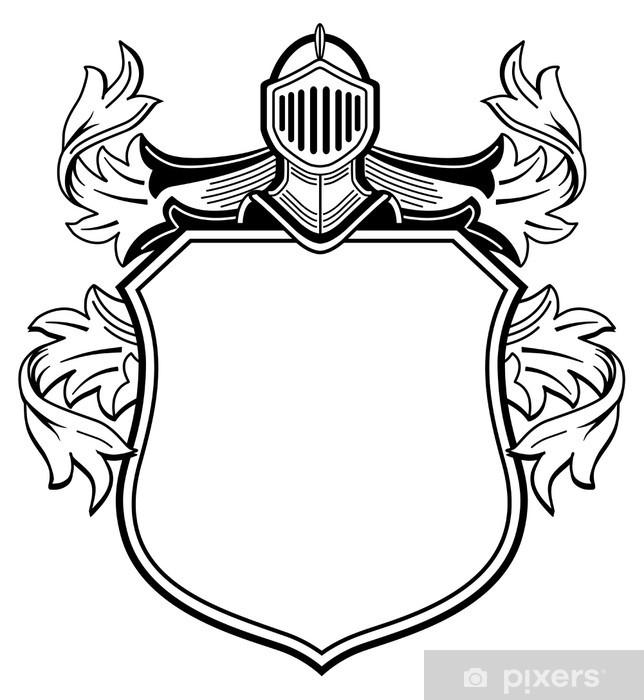 Aufkleber Ritter Wappen Pixerstick