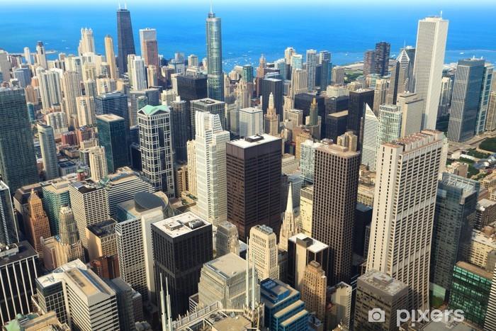 Vinilo Pixerstick Vista aérea del centro de Chicago - Temas