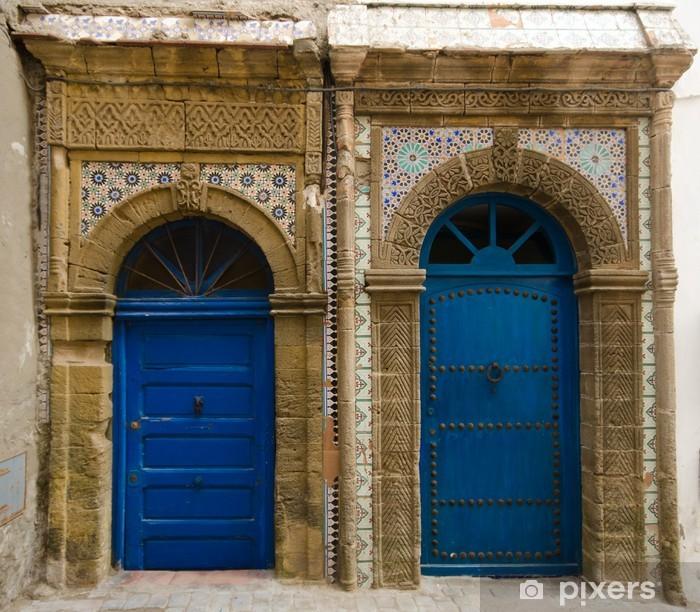 Plakat Drzwi w Essaouira marokański - Afryka