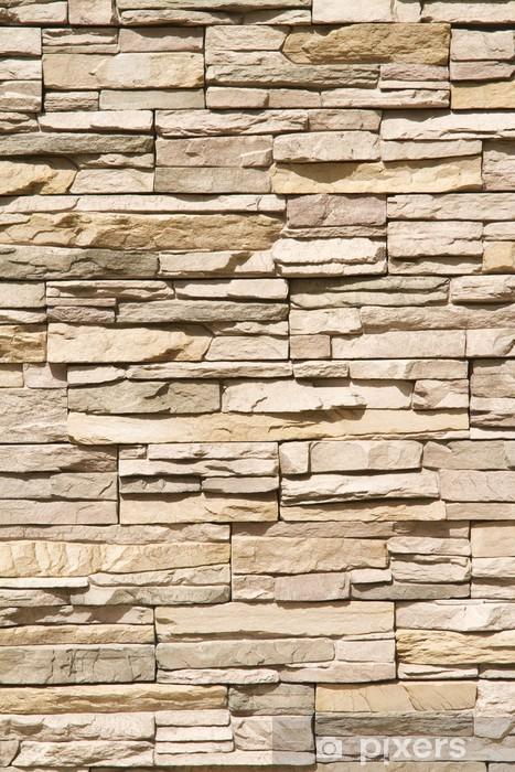Fototapeta winylowa Ułożone pionowo tle ściany z kamienia -