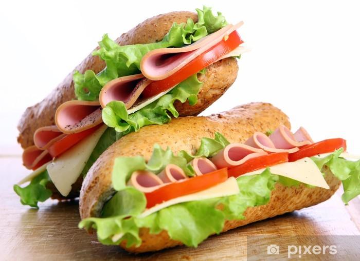 Sticker Pixerstick Sandwich frais et savoureux - Repas