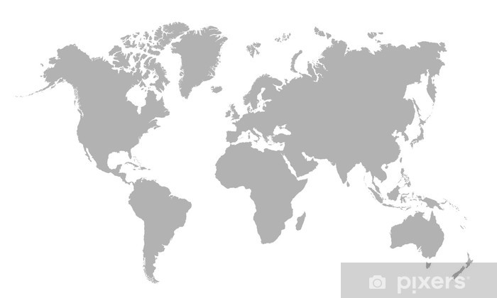 Boş Dünya Haritası Vektör çizim Duvar Resmi Pixers Haydi