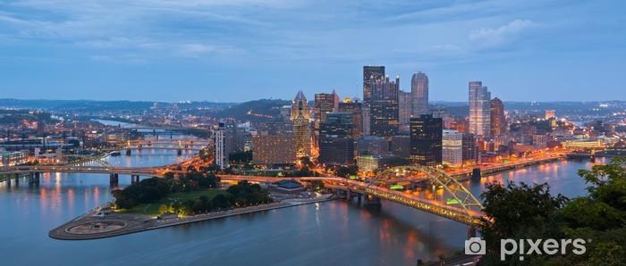 Papier peint vinyle Pittsburgh skyline panorama. - Amérique