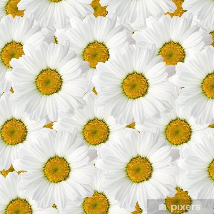 Papier peint vinyle Camomille avec de belles feuilles blanches - Fleurs
