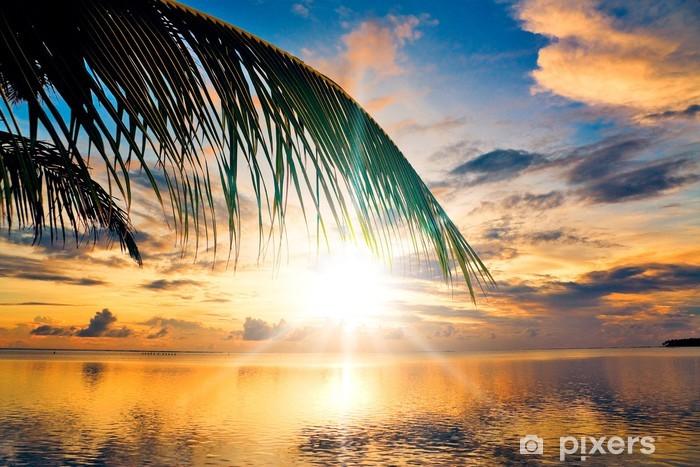 Papier peint vinyle Exotique en plein air sous les palmiers - Thèmes
