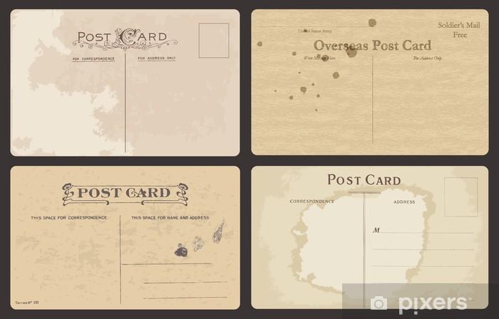 Vinyl-Fototapete Set alte Postkarten in Vektor - Texturen