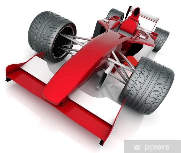 Plakat Obraz czerwony samochód sportowy na białym tle - Transport drogowy