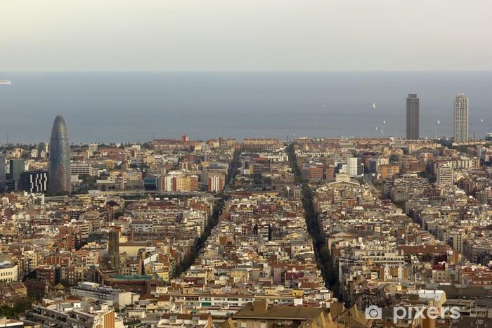 Fototapeta winylowa Aerial widok na Barcelonę - Tematy