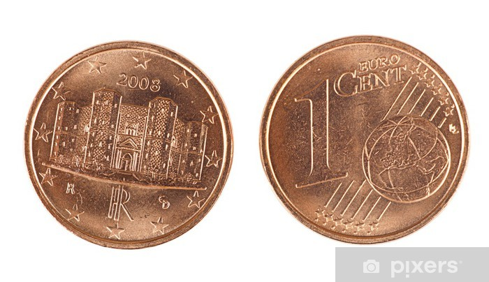 Fototapete Italian Ein Euro Cent Münze Vorder Und Rückseite