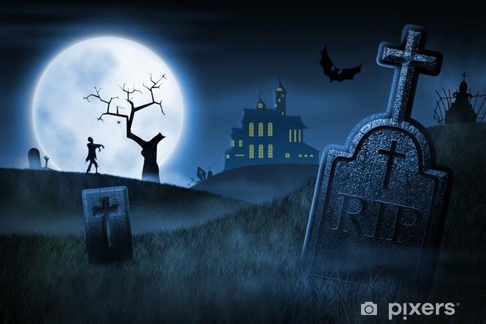 Papier peint vinyle Spooky Halloween Night - Thèmes