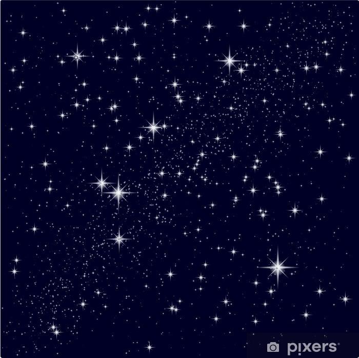 Naklejka Pixerstick Ilustracji wektorowych z rozgwieżdżonego nieba - Wszechświat