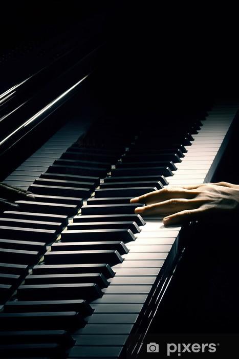 Papier peint vinyle Musique pour piano main pianiste de jouer. - Piano à queue