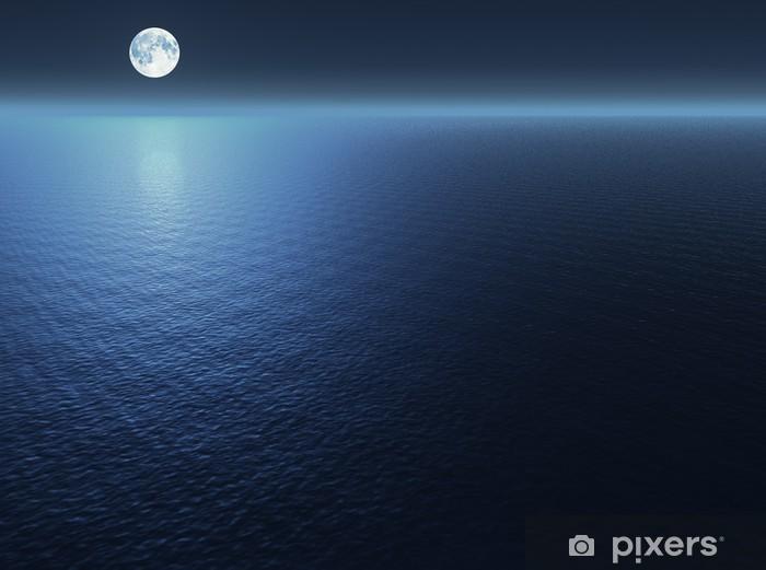 Adesivo Luna Sul Mare Pixers Viviamo Per Il Cambiamento