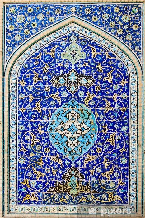 Fototapeta winylowa Kaflowy w tle, orientalne ornamenty Meczet z Isfahan, Iran - Abstrakcja